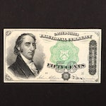Fourth Issue Fifty Cent Fractional Currency Note