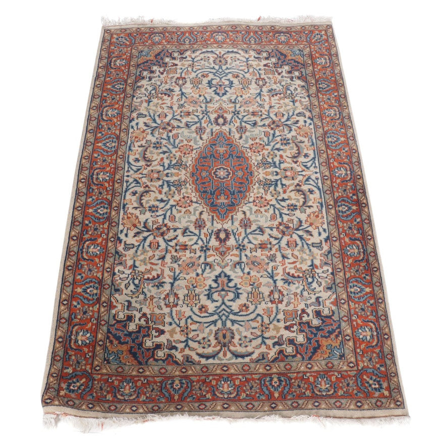 Hand-Knotted Indo Persian Kerman Rug