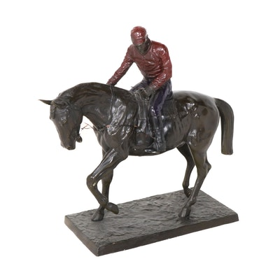 "Reproduction Brass Sculpture after Isidore Bonheur ""Le Grand Jockey"""