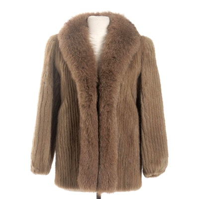 Corded Mink and Fox Fur Stroller