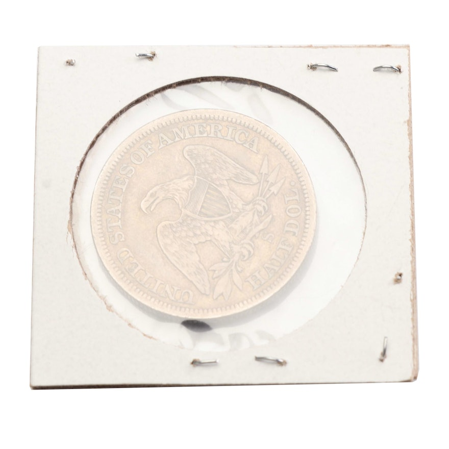 1855-S Seated Liberty Half Dollar, Arrows at Date