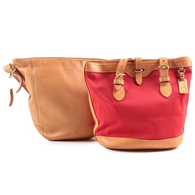 Coach and Dooney & Bourke Leather Bucket Shoulder Bags