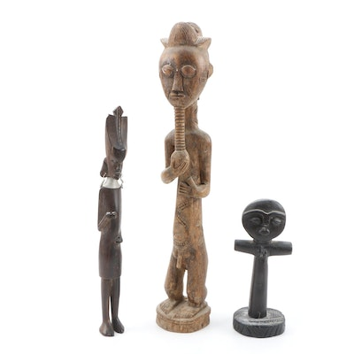 Decorative Wooden East and West African Sculptures