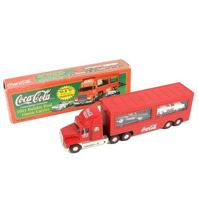 Coca-Cola Holiday Dual Classic Carrier Truck and Trailer