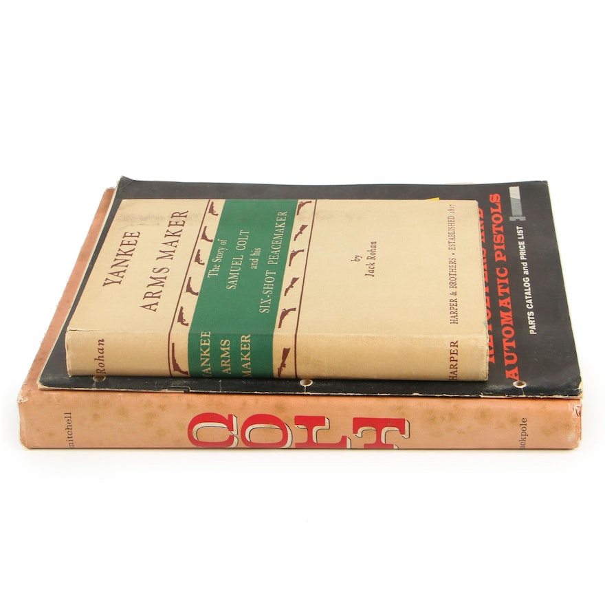 """Firearms Books including """"Colt"""" by James L. Mitchell, 1959"""