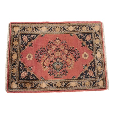 Hand-Knotted Persian Lilihan Wool Accent Rug