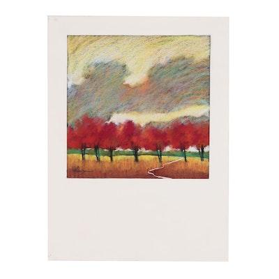 Helen Zarin Landscape Pastel Drawing