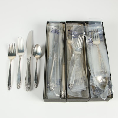 "International Silver ""Prelude"" Sterling Silver 4 Piece Place Setting for Twelve"