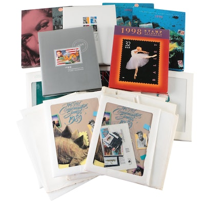 Twenty-Two USPS Commemorative, Definitive, and Yearbook Stamp Sets