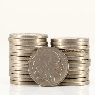 Twenty-Eight Full-Date Buffalo Nickels