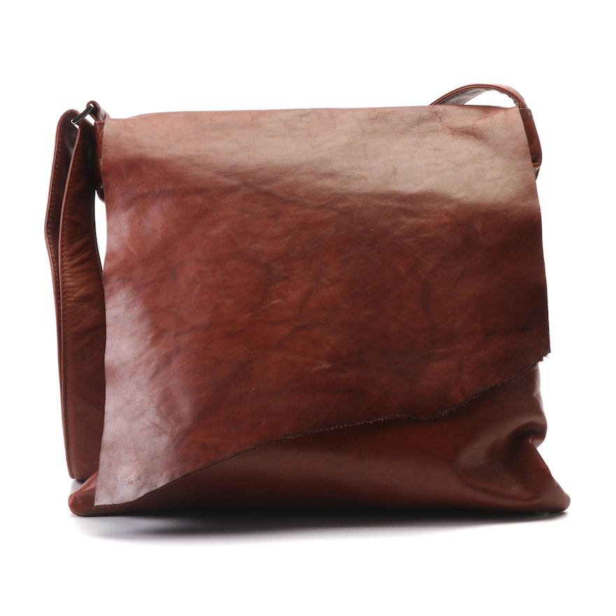 ILI New York Toronto Leather Flap Front Shoulder Bag