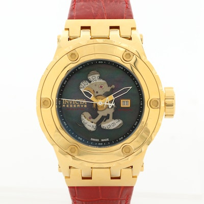 Invicta Reserve Disney Mickey Mouse Gold Tone Automatic Wristwatch