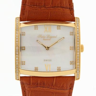Swiss Legend Diamonds Stainless Steel and Diamond Quartz Wristwatch
