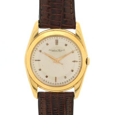 18K Gold International Watch Co. Stem Wind Wristwatch