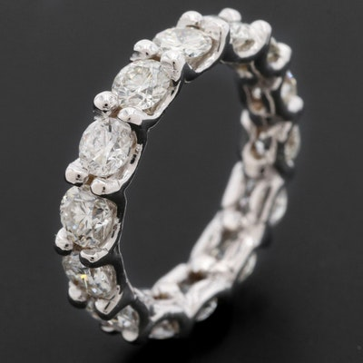 14K White Gold 3.08 CTW Diamond Eternity Band