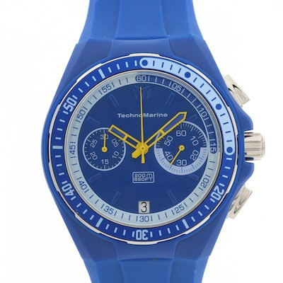 Techno Marine Stainless Steel and Silicone Chronograph Wristwatch With Date