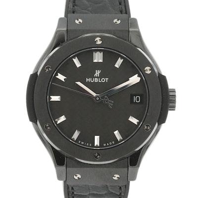 Hublot Classic Fusion Black Magic Titanium and Black Ceramic Quartz Wristwatch