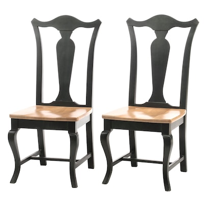 Pair of American Colonial Style Side Chairs