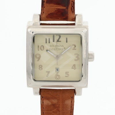 Silpada Designs Stainless Steel Wristwatch With Date