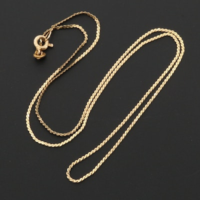 14K Yellow Gold Serpentine Style Chain