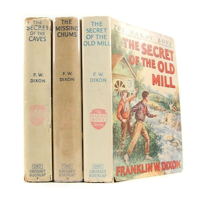 """1950s """"The Hardy Boys"""" Series by Franklin W. Dixon including """"The Missing Chums"""""""