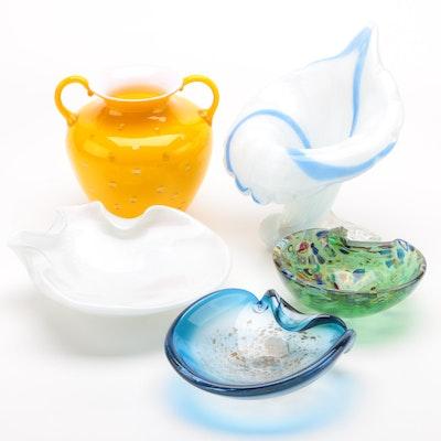 Venetian Art Glass Vases and Bowls