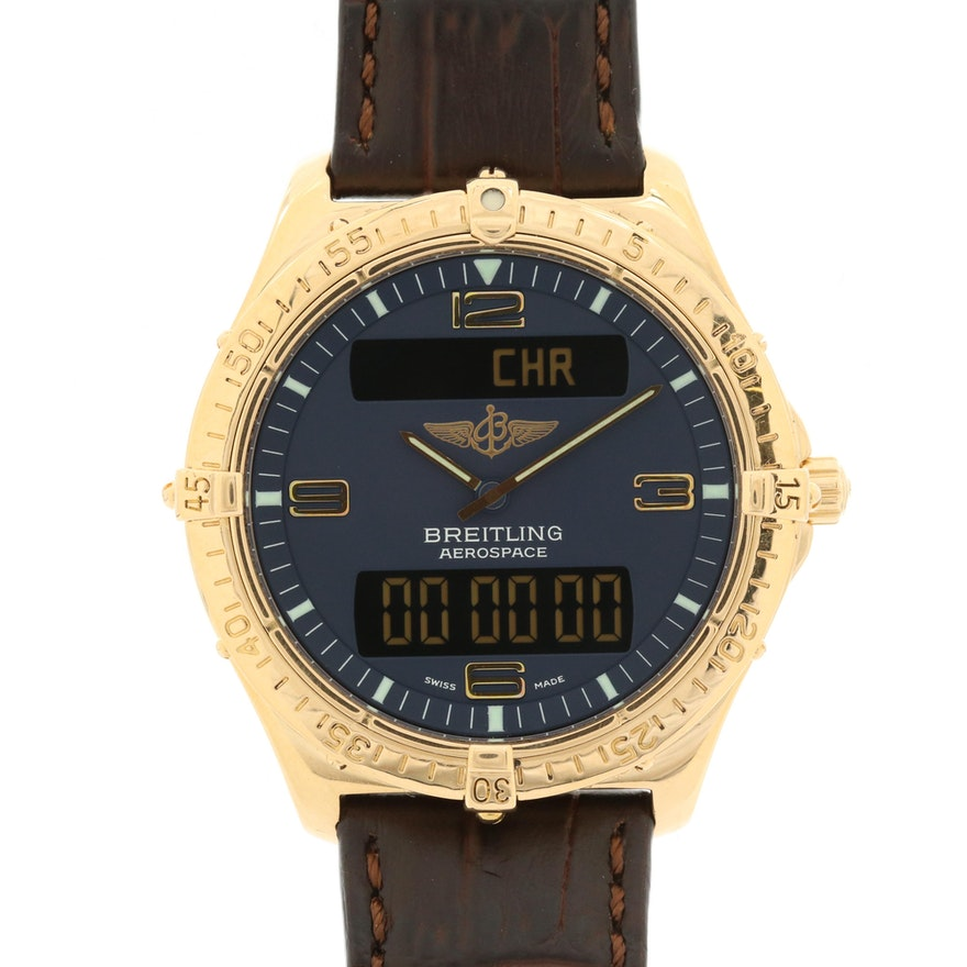 Breitling Aerospace 18K Gold Quartz Wristwatch