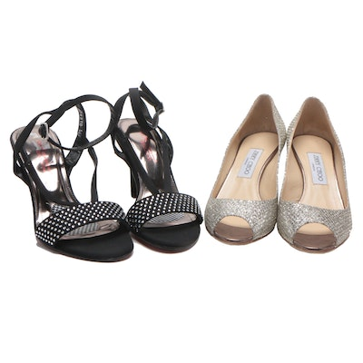 Jimmy Choo Isabel Peep-Toe Pumps and Ros R Hommerson Heeled Sandals