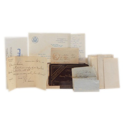 Horace Mann, Edward Everett, and Others Signed Letters, Mid-19th to 20th Century
