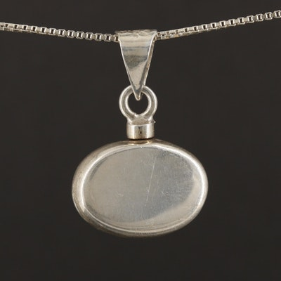 Taxco Sterling Silver Pendant with Italian Sterling Silver Necklace Chain