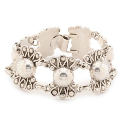 Taxco Sterling Silver Link Bracelet
