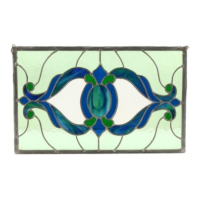 Stained Glass Hanging Panel, Late 20th Century