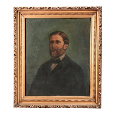 Early 20th Century American School Oil Portrait of a Man