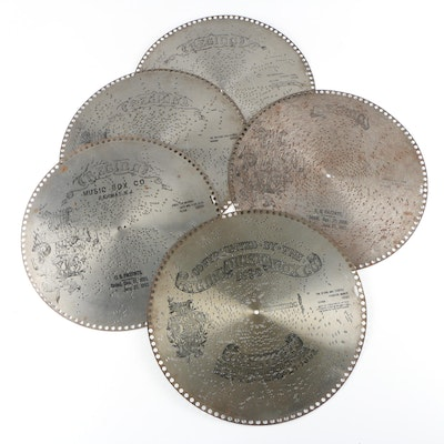 """Regina Music Box Co. Discs Including """"Stars and Stripes Forever"""""""