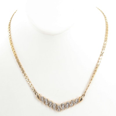 14K Yellow Gold 2.00 CTW Diamond Necklace