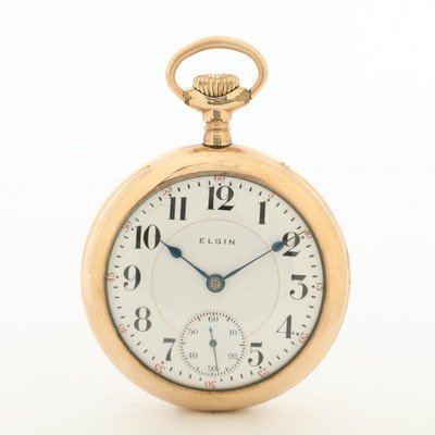 Antique Elgin Gold Filled Pocket Watch, 1905