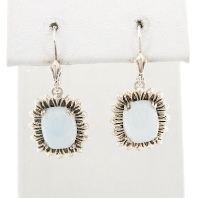 Sterling Silver Beryl Dangle Earrings