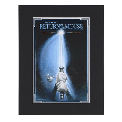 "Disney Giclée after Greg McCullough ""Star Wars: Return of the Mouse"""