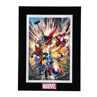 "Marvel Comics Limited Edition Offset Lithograph ""Fearless"""