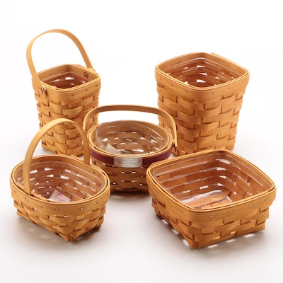 "Longaberger Baskets including American Cancer Society 1997 ""Horizon of Hope"""