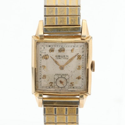 Vintage Gruen Veri-Thin 10K Gold Filled Wristwatch