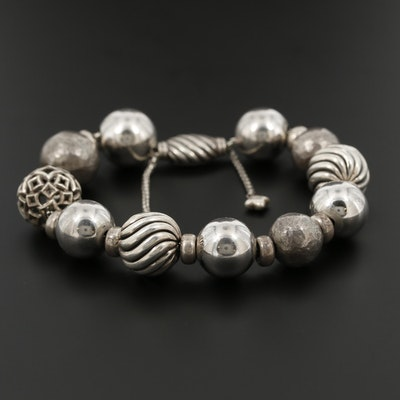 David Yurman Sterling Silver Beaded Bracelet
