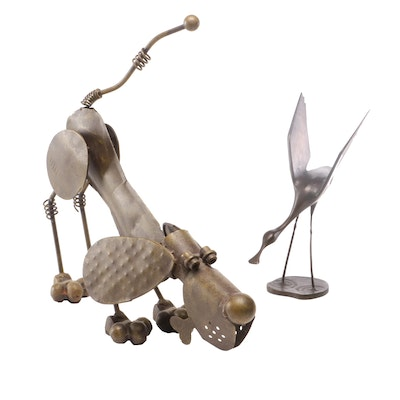 Whimsical Metal Sculptures, Mid-Late 20th Century