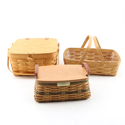 "Longaberger Baskets including 2002 Christmas Collection ""Traditions"" Basket"