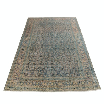 7'1 x 11'6 Hand-Knotted Antique Persian Tabriz Rug, circa 1920s