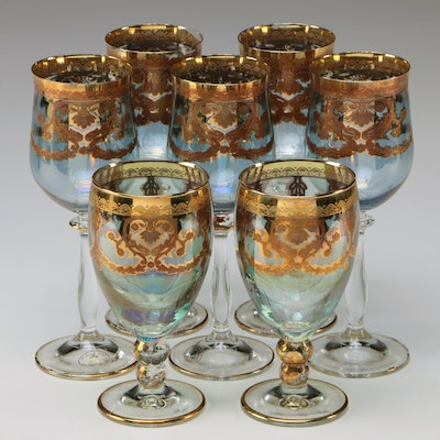 Fumo Brothers I Preziosi Gilded Wine Glasses and Goblets