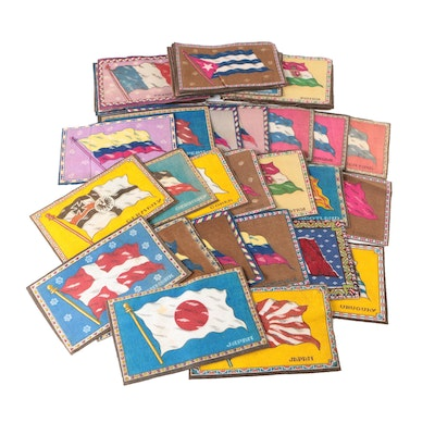 International Flag Tobacco Felts for Quilting or Sewing, Circa 1910