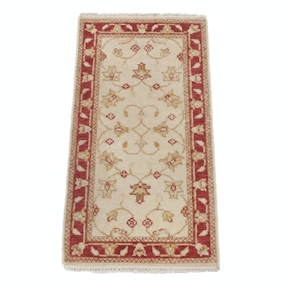2'1 x 4'2 Hand-Knotted Indo-Turkish Oushak Rug