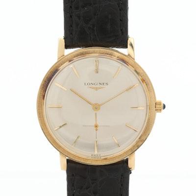 Vintage Longines 14K Gold Stem Wind Wristwatch