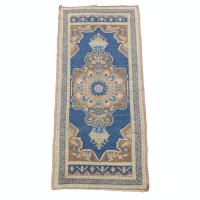 1'10 x 4'3 Hand-Knotted Turkish Accent Rug